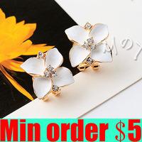 Four Leaf Grass Earring Flower Ear Buckle Big Earrings Female Fashion Accessories