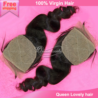 Rosa hair products closure density 120% unprocessed peruvian virgin loose wave silk base closure hidden knots free shipping