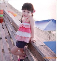 Baby-girls Lace Posh Ruffle sling top+short pants sets Summer vacation vibrant outfits