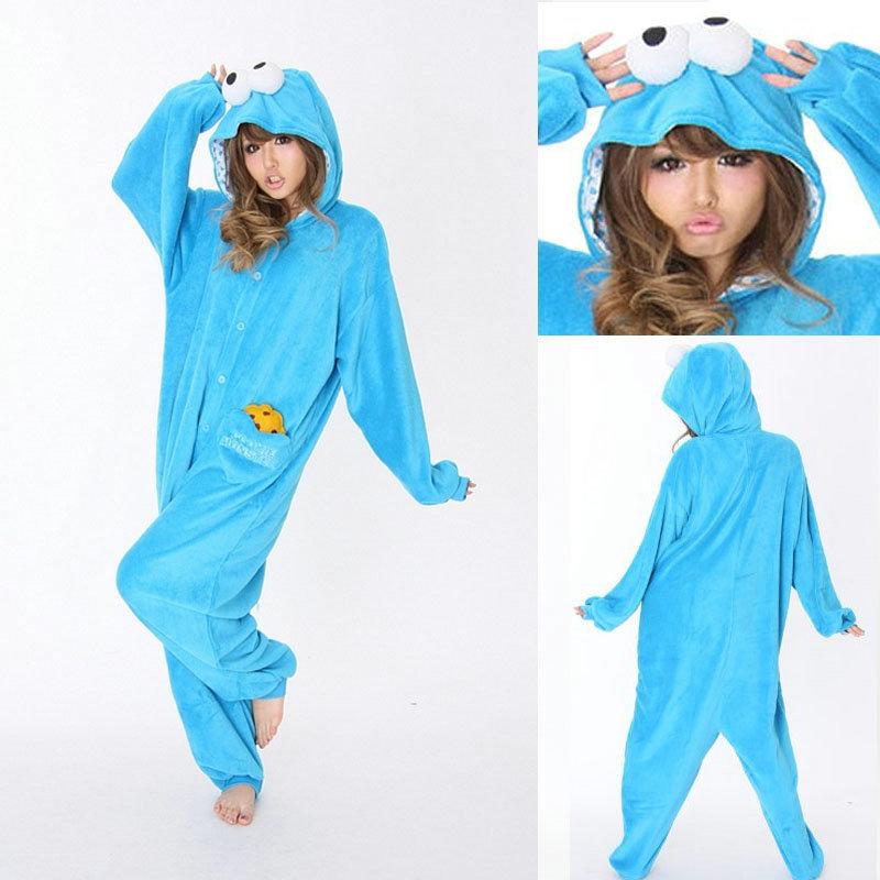 Пикачу Единорога панда cookie monster Жираф kigurumi пижамы пижамы ... 0847fabc157c8
