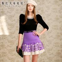 Lovable Secret - Bust skirt 2014 spring women's laser cut flower pleated all-match skirt bust skirt  free shipping