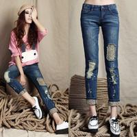 2014 fashion designer brand women jeans lady denim pants trouser,wanrenmi 8009
