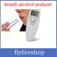 Prefessional Police Portable Breath Alcohol Analyzer Digital Breathalyzer Tester Body Alcoholicity Meter Alcohol Detection