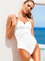 BRAND Secret Sexy Siamese foreign trade white black one pieces bikini swimwear swimsuit