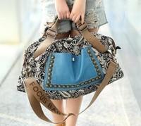korean style fashion women retro canvas bag female big bag handbags women rivet package diagonal package women shoulder bag BK1