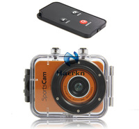 Full HD 1080P Mini Waterproof Sports Action Helmet Camera DVR Camcorder  2.4 touch TFT digital 4X Zoom Max 12MP remote control