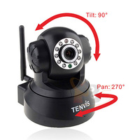 2014 HOT! TENVIS JPT3815W Wireless Indoor IP Camera Network Night Vision Pan/Tilt CMOS Sensor Black