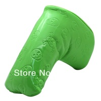 Magnet Style Skull Green golf putter head cover  Custom-made golf headcovers
