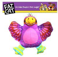 fatcat large purple birds sound bite resistant canvas pet toys dog toys toys
