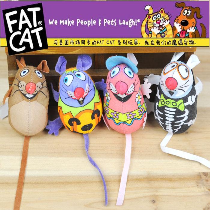 هناك 10 pcs النعناع البري القط لعب القط لعب الحيوانات الأليفة اللوازم fatcat للصدأجرذ داخل قماش ملونة لعبة القط المزج سلسلة لون عشوائي