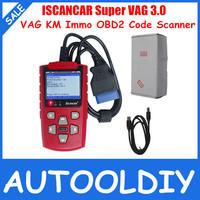 2014 Super VAG 3.0 ISCANCAR VAG KM IMMO OBD2 Code Scanner adjust mileage, read immobilizer code Best Tool for VAG Free Ship