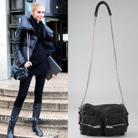 Classic Womens Leather Handbag High Quality Fashion Designer Brand Chain Shoulder Bag Lady Black Crossbody Small Bags