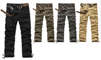 Factory Supply Spring Straight Men's Casual Pants Men Cargo Pants Outdoor Overalls Male Long Trousers 12pcs FEDEX Free shipping