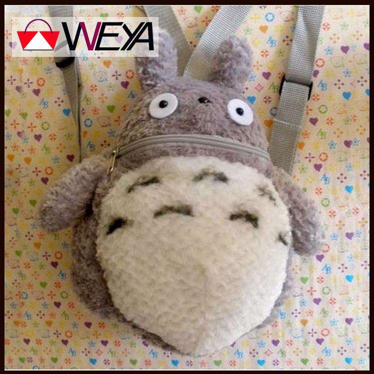 plush totoro children backpacks,Hayao miyazaki kids backpack,30cm children cartoon bag(China (Mainland))