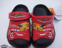 ree shipping 2013 cars style 3D pattern chidlren sandals,size c6-j3  Garden shoes for boys and girls