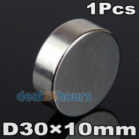1PC Big Super Strong Magnets Round Disc 30mm x 10mm Cylider Rare Earth Neodymium N35 Craft Models Free Shipping