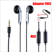 NEW 2014 High Quality In Ear Headphones Studio Earphones With Mic For MP3/Tablet/Nokia Lenovo HTC Mobile Phone Black Color