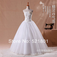 New 2014 mermaid wedding dresses lace wedding dress 2014 plus size  bridal gown romantic crystal china free shipping 13
