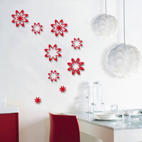 Eva 3D wall stickers wall stickers child real walls embossed decoration petals