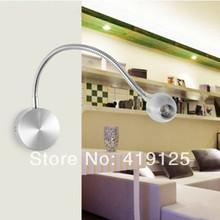 led nero argento lampada da parete lampada da lettura lampada 1 w 3 w ha condotto l'illuminazione del tubo idraulico pittura trappola luce dello specchio(China (Mainland))
