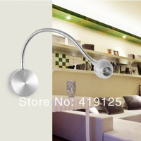 Led black silver bedside lamp reading lamp wall lamp 1w 3w led plumbing hose lighting plumbing trap painting mirror light