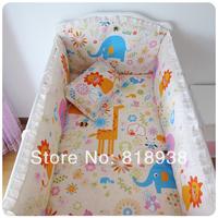 Hot sale cotton baby bedding bumper set baby bed around child bedding wall 100% cotton