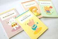 Korea Bentoy  Cute cartoon animals Meng favoritism paper  color page letter paper 63 sheets/set  / wholesale  free shipping