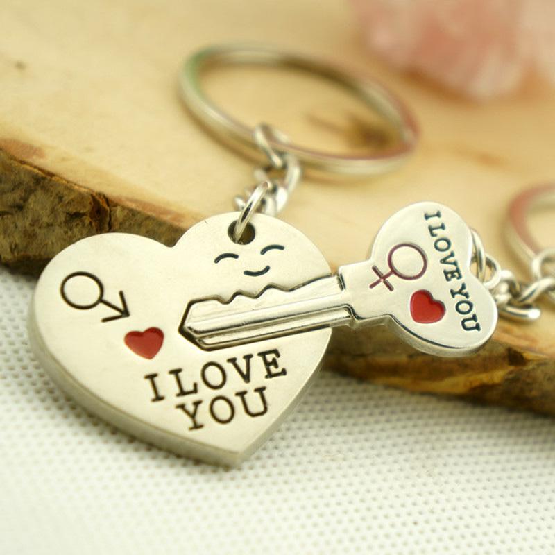 Free shipping Fashion Creative Smile Face Love Heart Lock Boy Girl ...