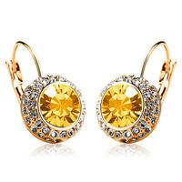 New 2014 Korean high-quality fine Austrian crystal earrings Moon River Dangle Earring
