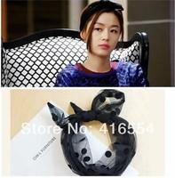 Fashion Korea long lace dot mesh hair bands Headband Scarf Hair Band Bow Head Wrap Polkadot FREE SHIPPING