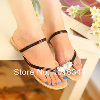 HOT!2014 new women summer fashion clip toe casual sandals Bohemia style Eur large size 34-43 Low-heeled beach thong sandals
