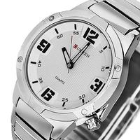 New Male Clock Men Quartz Full Steel Watch Round Dial Stainless Steel Analog Men Sports Watches Military Men Wristwatch Relogio
