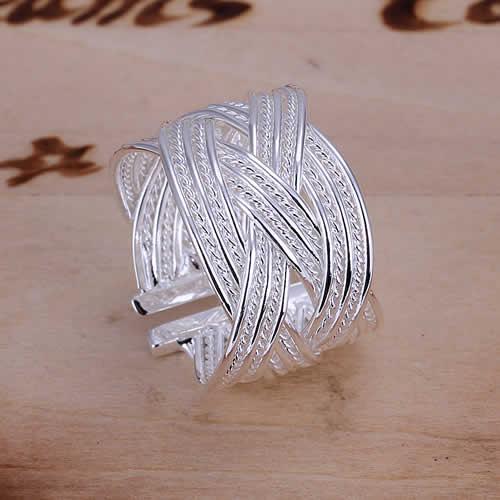 Perdere soldi promozioni! 925 grossista anello in argento, argento 925 monili, grande Anello web- Aperto r024