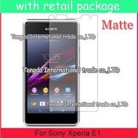 Anti-Scratch Anti Matte Glare 100x screen protector guard For Sony Xperia E1,retail pacakge,DHL shipping