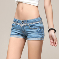2014 New Summer Washed Jeans Women Lace Denim Shorts Short Jeans Pants/Denim Shorts