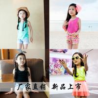 2720 2014 Summer Female Children All-Match Vest Girl's Candy Color Tanks