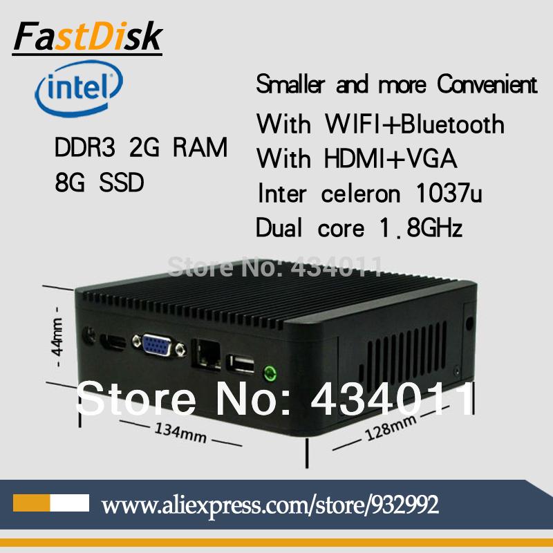 support HDMI+VGA thin clients mini pc intel celeron 1037u dual core 1.8GHz 2G RAM 8G SSD windows(China (Mainland))