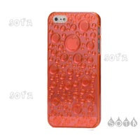 Free Shipping Orange 3D Water Drop Plastic Cover Case Accessories for iPhone 5 Wholesale