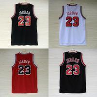 Chicago 23 Michael Jordan Basketball Jerseys Cheap MESH Red White Black (4 Kinds) Michael Jordan Jersey S-XXL Wholesale Dropship
