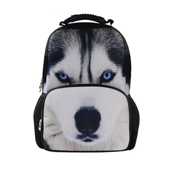 Aliexpresscom Buy Whosepet Animal Husky Head Backpack