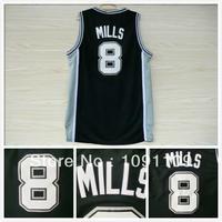 San Antonio 8 Patty Mills Jersey, Cheap Basketball Jersey Patty Mills New Rev 30 Embroidery Logo Black, Mens S-3XL Wholesale