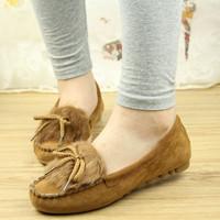 2013 plus velvet autumn single shoes Moccasins flat round toe flat heel shoes women's flat single shoes female