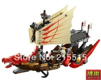 Hot !Ninjago Large Dragon Boat 9762Building Block Sets 680pcs Educational Jigsaw Construction Bricks toys for children free ship