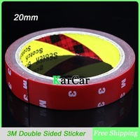 3M Tape 20mm Double Sided Sticker Acrylic Foam Adhesive, Car Interior Tape Free Shipping