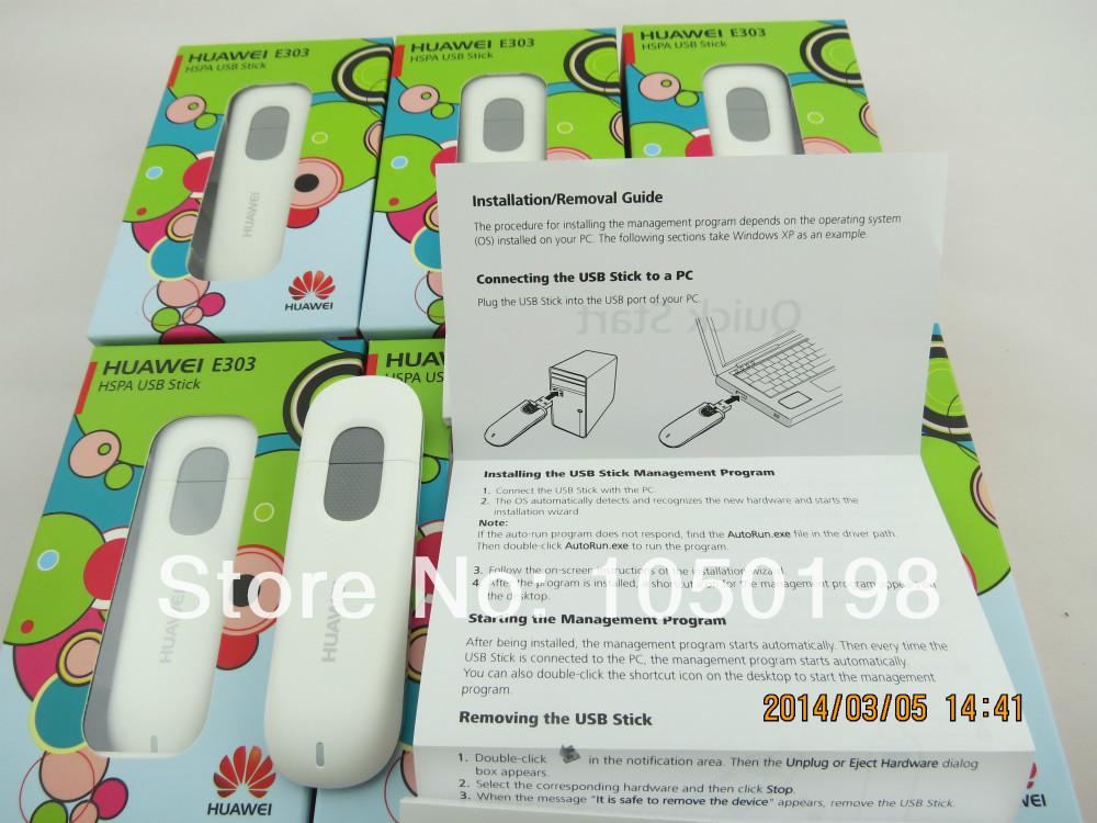Original Unlock 7.2Mbps HUAWEI E303 3G HSDPA Modem And 3G USB Modem(China (Mainland))