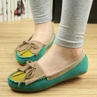 2013 flat heel flat fashion single shoes female women's bow shoes round toe flat shoes Moccasins