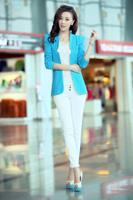 Free Shipping 2014 Autumn Fashion Female Slim Blazer,Fashion Small Suit Jacket Autumn Coat Plus Size S M L XL XX