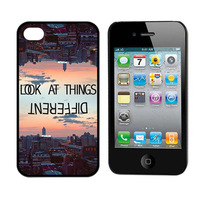 Look At Things Different Case Cover Hard Back Case for iPhone 4 4S 4GS Freeshipping&Wholesale