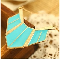 2014 New style Free Shipping Fashion Necklace Europe and America Retro style Triangular long necklace Wholesale  mix order