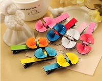 Free Shipping Hot Korean version of the cute candy colored headdress spray Bicolor fruit side clip hair accessories,10PCS/lot